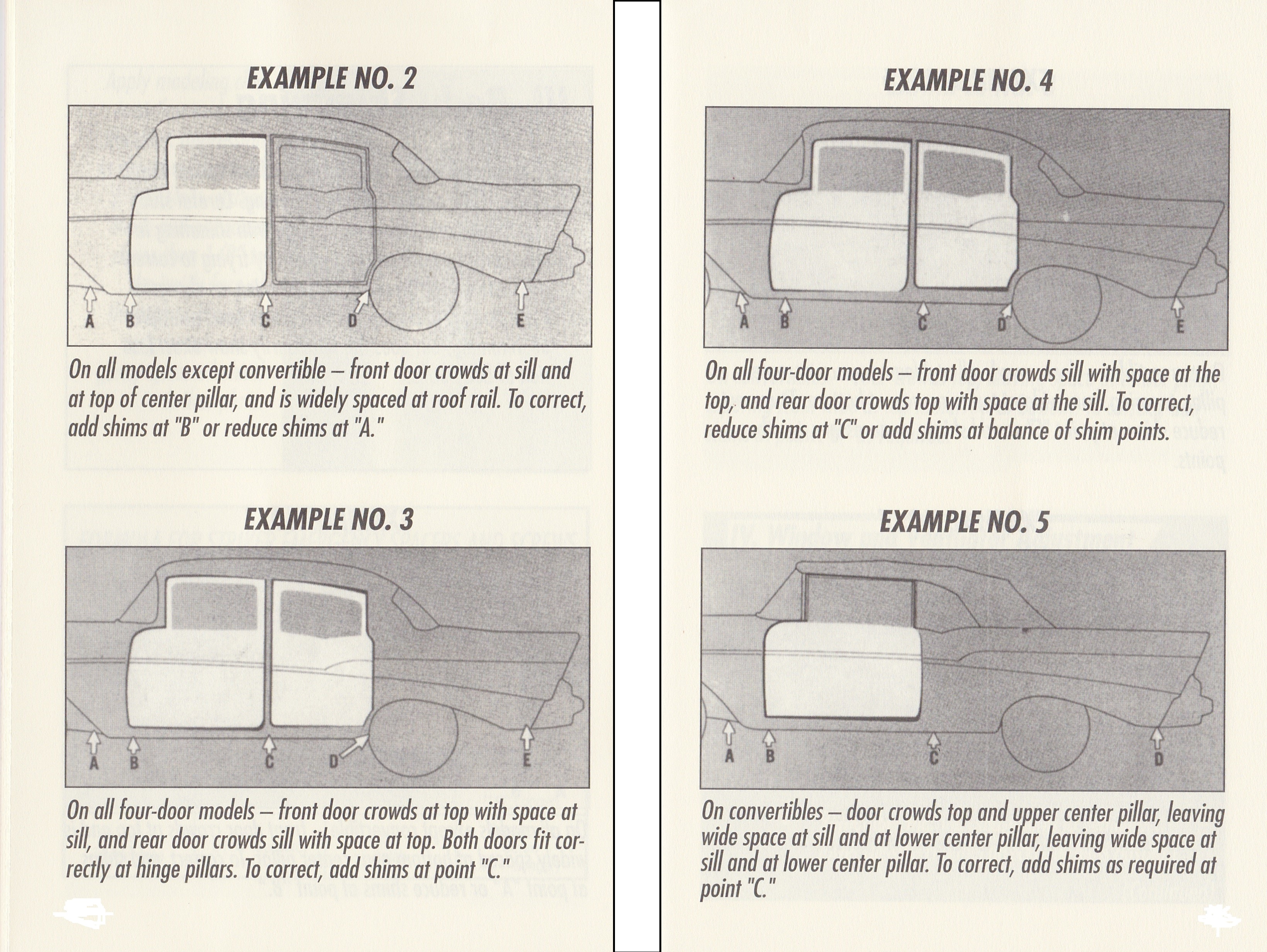 1955-57 Chevy Body Fit & Adjustments