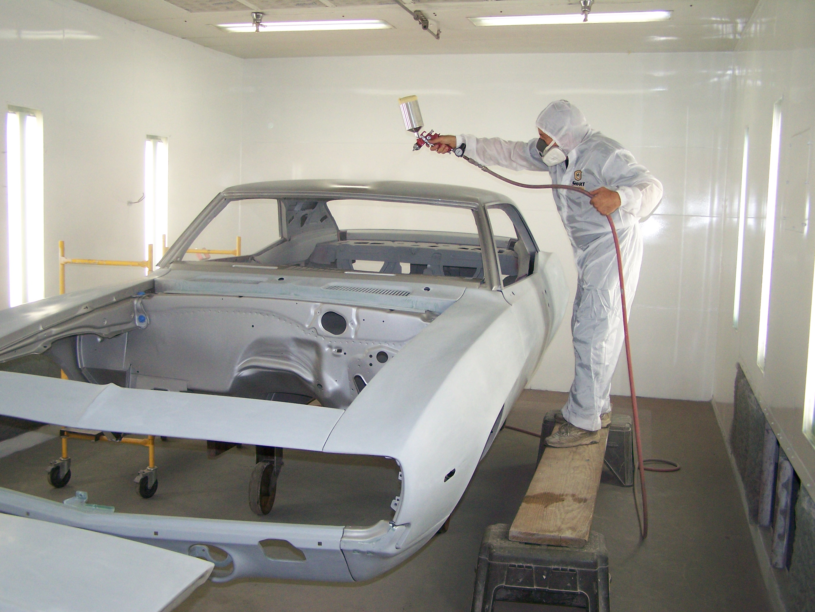 Before Going To The Spray Booth The Door Jambs Trunk