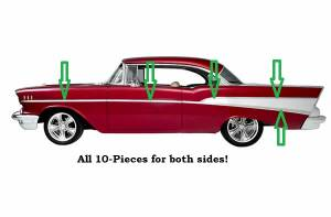 1955-57 Chevy - Stainless Steel Trim