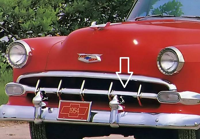 1954 Chevy Center Chrome Grille Molding - Image 2