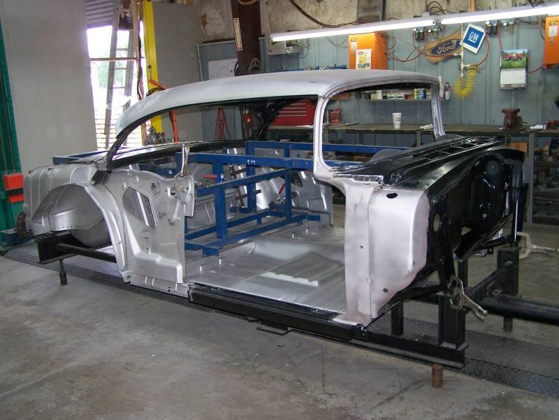 1956 Chevy 2 Door Hardtop Body Skeleton With Dash