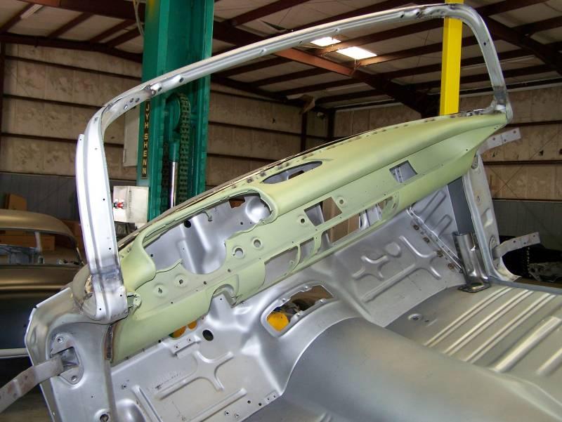 1957 Chevy 2 Door Sedan Body Skeleton With Dash Quarter