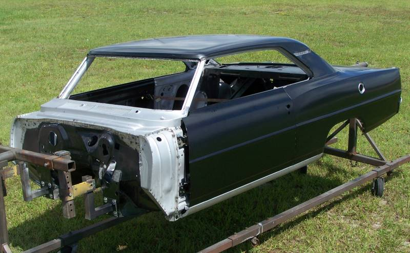 1966 67 Chevy Ii Body Shell Mini Tubbed Column Shift Bench