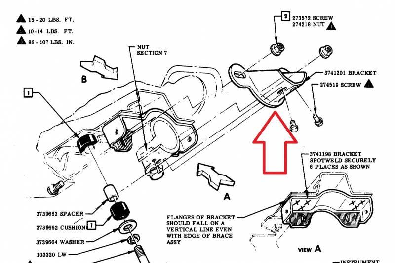 1955 chevy steering column diagram 1957 chevy steering column to dash bracket  1957 chevy steering column to dash bracket