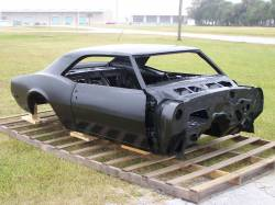 1967 Camaro Coupe Complete With Heater Delete Firewall, Top Skin, Drip Rails, Quarter Panels, Doors & Deck Lid
