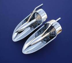 1957 Chevy Chrome Hood Rockets - Best