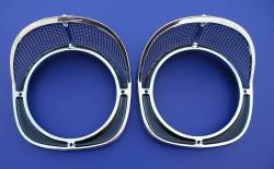 1957 Chevy Chrome Headlight Bezels Pair