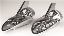 GM - 1957 Chevy Chrome Hood Rocket Set - Good