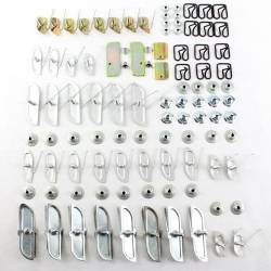 1955 Chevy Bel Air Complete Side Stainless Molding Clip Set