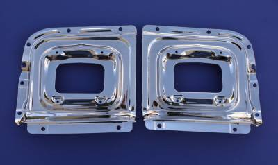 1956 Chevy Chrome Parking Light Backing Panels