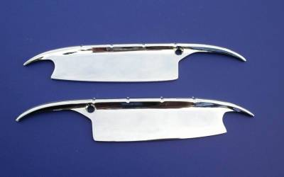 1955-56 Chevy Chrome Accessory Door Handle Shields