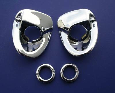 1955-56 Chevy Chrome Windshield Wiper Escutcheons