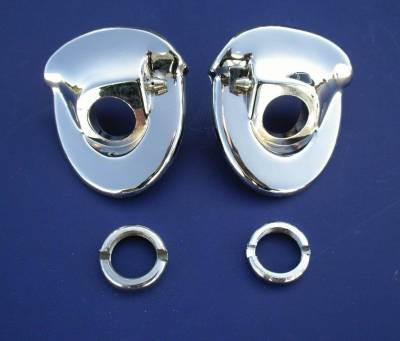 1957 Chevy Chrome Windshield Wiper Escutcheons