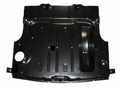 GM - 1953-54 Complete Trunk Floor With Braces & Spare Tire Well