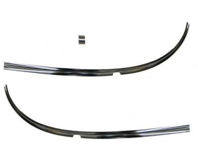 GM - 1955-56 Chevy Lower Outer Windshield Stainless (3-Pieces)