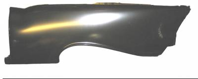 GM - 1957 Chevy Left Full Convertible Quarter Panel With Door Jamb And Trunk Gutter