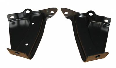 GM - 1957 Chevy Rear Bumper End Inner Brackets Pair