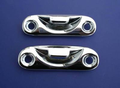 1955-57 Chevy Convertible Top Handle Chrome Striker Plates