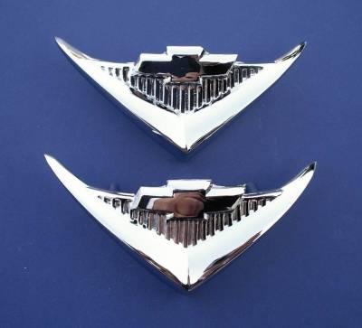 1955 Chevy Chrome V8 Under Taillight Emblems