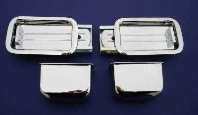 1955-59 Chevy Chrome Rear Armrest Ashtray Assemblies