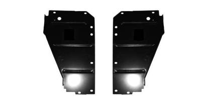 GM - 1955 Chevy Radiator Core Support Filler Panels Pair