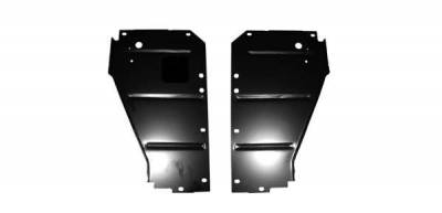 GM - 1956 Chevy Radiator Core Support Filler Panels Pair