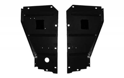 GM - 1957 Chevy Radiator Core Support Filler Panels Pair