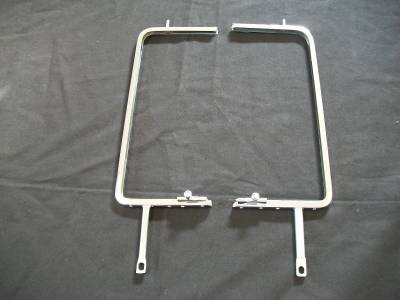1955-57 Chevy Sedan/Station Wagon/Delivery Chrome Vent Window Frames With Latches Pair