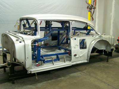 1955 Chevy 2-Door Sedan Body Skeleton With Dash