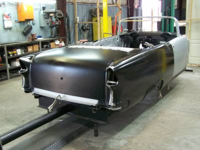 1955 Chevy Convertible Body Skeleton With Dash, Quarter Panels, Doors, Deck Lid & Convertible Top Frame
