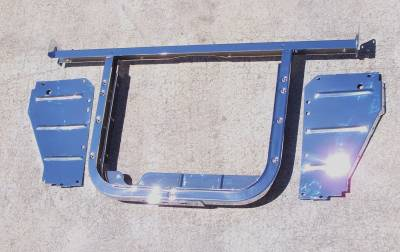 GM - 1955 Chevy V8 Chrome Radiator Core Support Kit