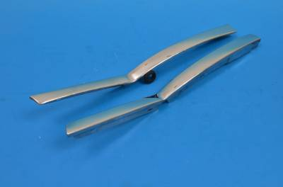 GM - 1955-57 Chevy Convertible Stainless Steel Quarter Window Beltline Moldings Pair