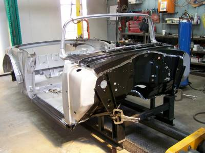 1956 Chevy Convertible Body Skeleton With Dash