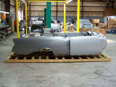 1956 Chevy Convertible Body Skeleton With Dash, Quarter Panels, Doors, Deck Lid & Convertible Top Frame