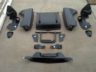 GM - 1957 Chevy 150 Series Complete Front End Sheetmetal Package With V8 Core Support