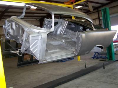 1957 Chevy 2-Door Hardtop Body Skeleton With Dash & Quarter Panels