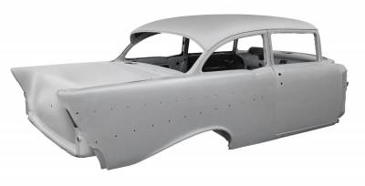 1957 Chevy 2-Door Sedan Body Skeleton With Dash, Quarter Panels, Doors & Deck Lid