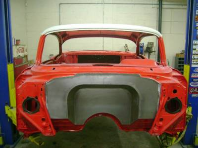 "1957 Chevy 4"" Recessed Smoothie Steel Firewall Upgrade"