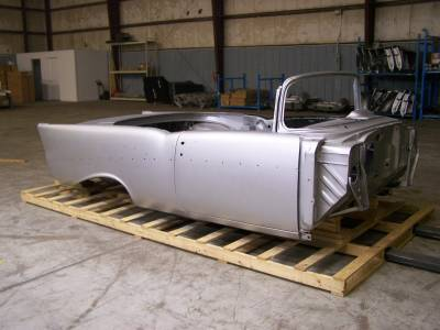 1957 Chevy Convertible Body Skeleton With Dash, Quarter Panels, Doors & Deck Lid