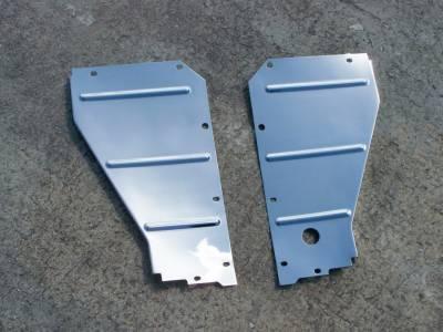 GM - 1957 Chrome Radiator Support Baffles Pair