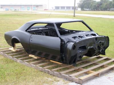 1967 Camaro Coupe Complete With Stock Heater Firewall, Top Skin, Drip Rails, Quarter Panels, Doors & Deck Lid
