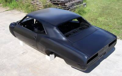 1969 Camaro Coupe Complete With Stock Heater Firewall, Top Skin, Drip Rails, Quarter Panels, Doors & Deck Lid