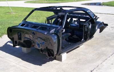 1969 Camaro Coupe Skeleton With Stock Heater Firewall, Top Skin, Drip Rails & Quarter Panels