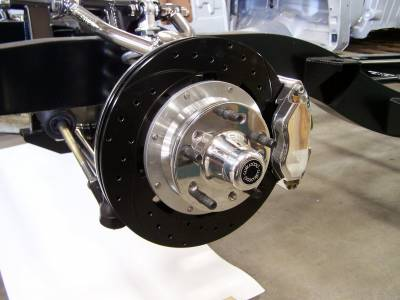 "1955-57 Chevy 4-Piston 12"" Wilwood Front Disc Brakes Installed For Precision Hot Rod & IFRS Chassis"