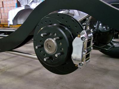 """1955-57 Chevy 4-Piston 12"""" Wilwood Rear Disc Brakes Installed For Precision Hot Rod & IFRS Chassis"""