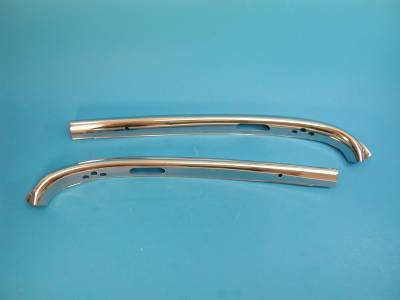 1955-57 Chevy Convertible Upper Inner Windshield Stainless Pair