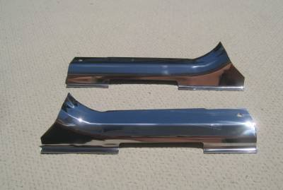1955-57 Chevy Nomad Polished Stainless Steel Tailgate Hinge Covers