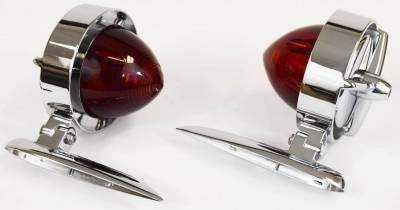 """1955-56 Chevy Tri-Bar """"Yankee"""" Taillights - Chrysler Imperial Style Pair"""