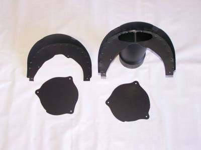 """RealDuction 1957 Chevy Front Fender LS Engine Single 4"""" Cold Air Induction System"""