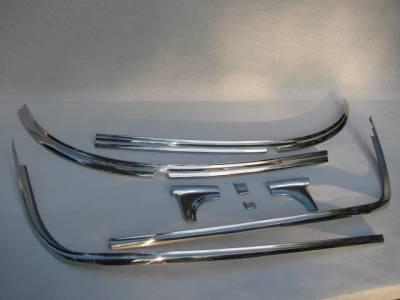 1955-56 Chevy 2-Door Hardtop Restored Windshield Stainless Set - 8-Pieces